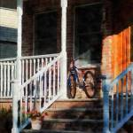 """Bicycle On Porch"" by susansartgallery"