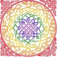 Rainbow Celtic Design