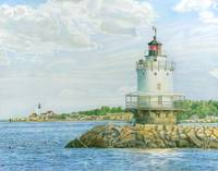 View from Casco Bay Ferry (Spring Point Light)