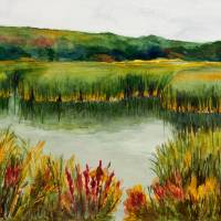"""Maine Marsh "" by Rosemary Benivegna"