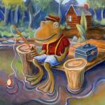 """Fishing Frog"" by MattO68"