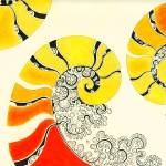 """Yellow and Red Nautilus"" by nexus7"