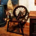 """Small Spinning Wheel"" by susansartgallery"