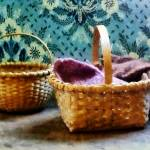 """Basket With Knitting"" by susansartgallery"