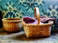 Basket With Knitting
