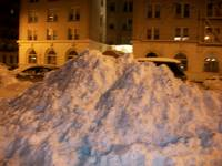 Giant Snow Bank