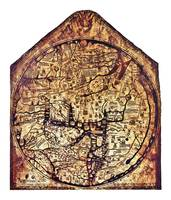 Hereford Mappa Mundi with small white borders