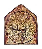 Hereford Mappa Mundi with medium white border