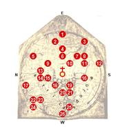 Hereford Mappa Mundi 1300 Labeled Guide