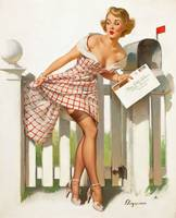 postage box pinup girl big