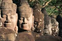 Stonefaced guards of Angkor Thom