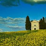 """Vitaleta Chapel in Tuscany"" by GregStringham"