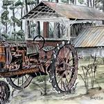 """farm tractor painting"" by derekmccrea"