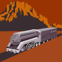 Steam Train Locomotive Retro