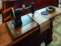 Sewing Machine And Pincushions