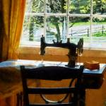 """Sewing Machine By Window"" by susansartgallery"