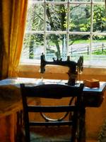 Sewing Machine By Window