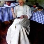 """Grandma Sewing"" by susansartgallery"
