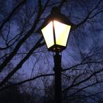 """Vintage Lamp Post Lights The Night"" by MikeMBurkeDesigns"