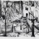 """peintures-original-rue-montmartre-la-nuit-3767301-"" by NicolasJolly"