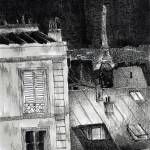 """peintures-original-toits-paris-aquarelle"" by NicolasJolly"