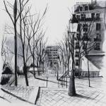 """peintures-original-rue-a-montmartre-pari-3766647-m"" by NicolasJolly"