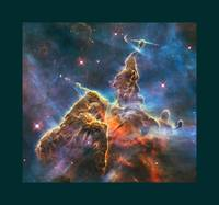 Mystic Mountain in Carina Nebula with large border