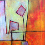 """Abstract Art Organic Shapes"" by BlendaStudio"