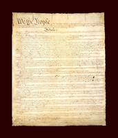 Constitution of United States aged with medium dar