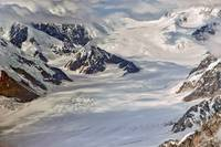 Glaciers In the Alaska Range