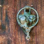 """Romantic Kissing Door Knocker"" by lightningman"