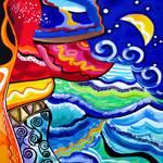 """Night Ocean Storm"" by galina"