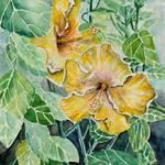 """hibiscus flowers art print"" by derekmccrea"