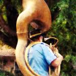 """Sousaphone Marching Away"" by susansartgallery"