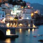 """Amalfi Coast at Night"" by DonnaCorless"