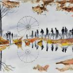 """Ferris wheel - Paris - Watercolor"" by NicolasJolly"