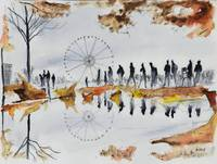 Ferris wheel - Paris - Watercolor