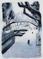 Canal Saint-Martin - Paris - Watercolor
