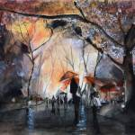 """Autumn Rain - Paris - Watercolor"" by NicolasJolly"