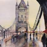 """After the rain - London - Watercolor"" by NicolasJolly"