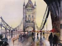 After the rain - London - Watercolor