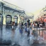"""Chartrons Place - Bordeaux - Watercolor"" by NicolasJolly"