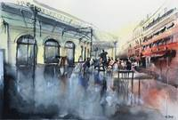 Chartrons Place - Bordeaux - Watercolor