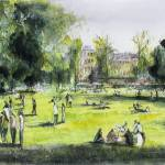 """Jardin Public - Bordeaux - Watercolor"" by NicolasJolly"