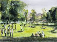 Jardin Public - Bordeaux - Watercolor