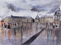 Place de la Bourse - Bordeaux - Watercolor