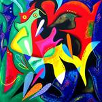 """""""Echoes of Taino - tribal abstract Puerto Rico"""" by galina"""