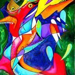 """Tribal Echoes of Puerto Rico - Taino, Vejigantes"" by galina"