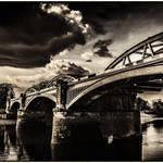 """Barnes Rail Bridge"" by RunnyCustard"