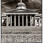 """""""The National Gallery BW"""" by RunnyCustard"""